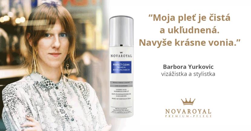 Čistiace mlieko Novaroyal skúsenosti Barbora Yurkovic